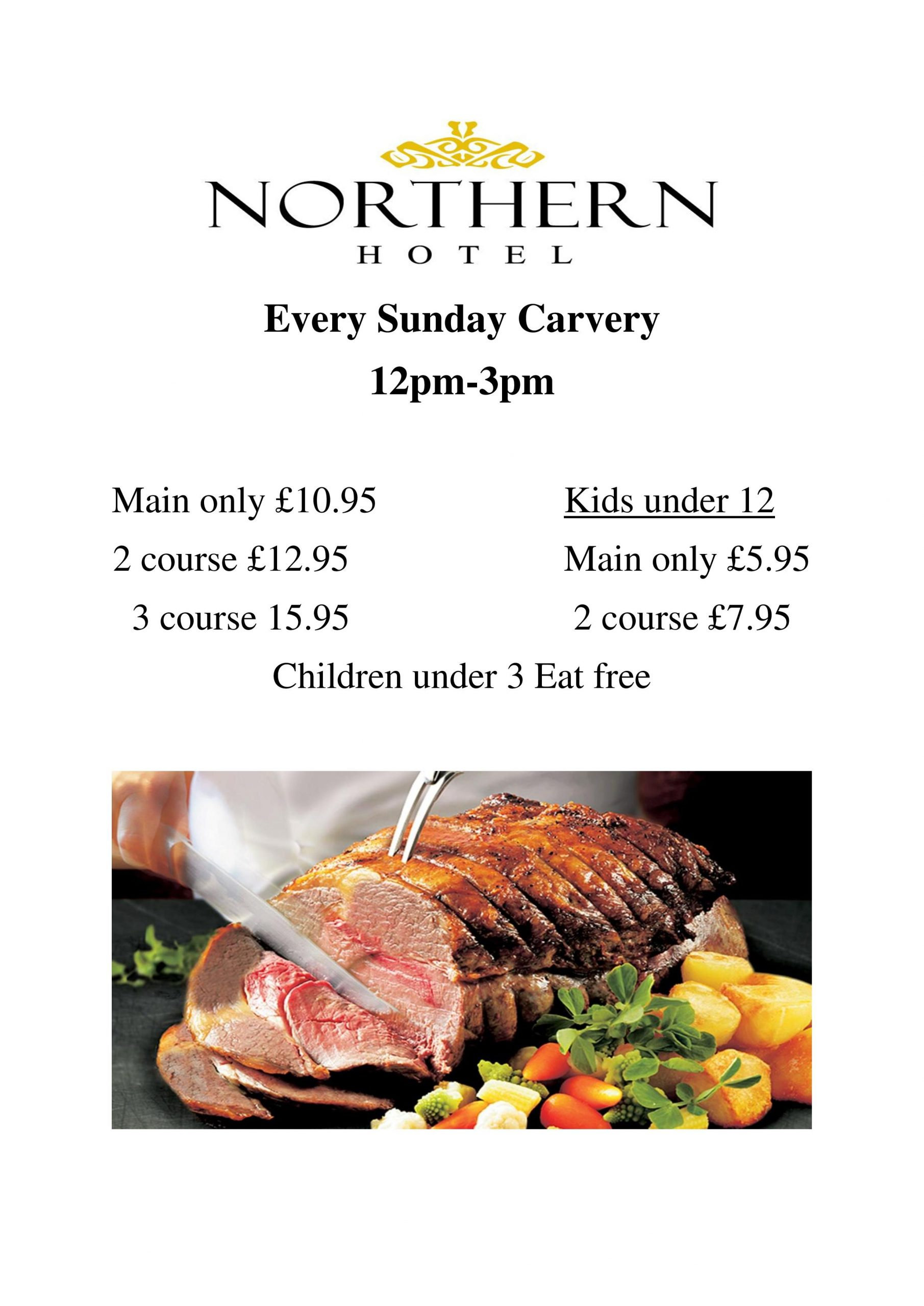 New Every Sunday Carvery